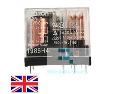 Nouveau 12V 5A pcb omron miniature relay 8 pin dpdt haute qualité envoi gratuit