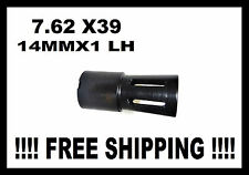 NEW 14X1MM LH FLARE STYLE COMPENSATOR/MUZZLE BRAKE 7.62X39 MADE IN THE U.S.A.
