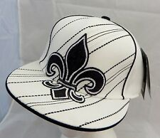 Fleur de lis  quebec  flatbilled   cap hat flex fit XL  NWT