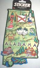 Alabama Jumbo Map Repositionable Vinyl Decal