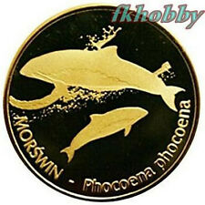 Polonia 2012 coins 15 Pos. Morświn Porpoise Fish Fisch Poissons Pesce Ryba
