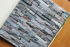 3D Brick STONE Slate Rustic look Rock Project Wallpaper Cafe Restaurant Shop
