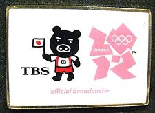 LONDON 2012 Olympic TBS Japanese Official Broadcaster Internal media  staff pin