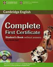 Complete First Certificate Student's Book with CD-ROM, Brook-Hart, Guy, Very Goo