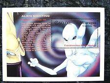 Nicaragua, 1994 Kansas Souvenir Sheet, 1989 Alien Sightings, Scott 2025, MNH