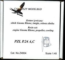 Choroszy Models 1/48 PZL P.24A P.24C GNOME RHONE ENGINE with PROPELLER & COWLING