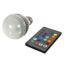 E27 9W RGB Magic 16 Color Changing LED Light Bulb Home Lamp w/ Remote Control