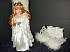 PORCELAIN HERITAGE SIGNATURE COLLECTION  BISQUE ANGEL DOLL NEW IN BOX