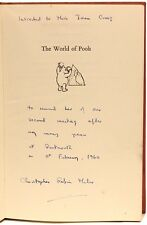 Milne - The World of Pooh - 1ST EDITION - INSCRIBED BY CHRISTOPHER (ROBIN) MILNE