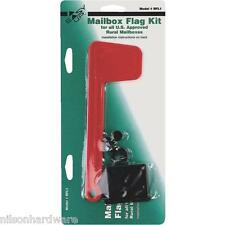 6 Pack Plastic Mailbox Red Flag Replacement Bracket Kit RFL-1