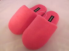 New Womens Joe Boxer Slippers Scuffs Slip-Ons Dark Pink Large 9-10 Cute & Soft