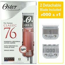 Oster Classic 76 Professional Hair Clipper 76076-010 Barber Combo 000 & 1 Blades