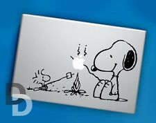 Snoopy Bonfire Macbook decal / Vinyl Laptop sticker / Cartoon Stencil