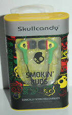 SKULLCANDY SMOKIN'  BUDS S2BDZ-058 RASTA YELLOW RED GREEN