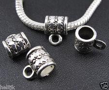 30pc Tibetan Silver Connectors Big Hole Spacer Beads Fit European Charm Bracelet