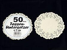 10 x 50 Tassenuntersetzer = 500 Stück aus Papier, Tortenspitze, Tortendeckchen