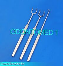 Fomon Retractor Set Of 3 Surgical Instruments Single And Double Ball End New