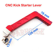 Red CNC Kick Starter Lever For 110 125 cc CRF50 CRF70 IMR SSR TTR Dirt Pit Bike