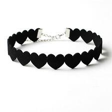 Korea Heart Necklace Collar Cashmere Velvet Love Choker Necklace Creative Models