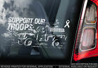 Support Our Troops - Car Window Sticker -Land Rover- Proceeds to Help For Heroes