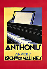 Art Ad Deco Anthonis Anvers Piano   Poster Print