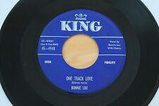 BONNIE LOU One Track Love/No Rock N Roll Tonight 45 Rockabilly Bopper HEAR