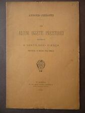 Storia locale Sant'Ilario d'Enza Scavi Reggio Emilia Oggetti Preistorici Mo 1888