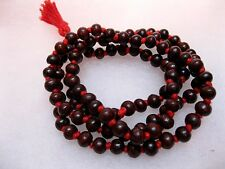 8mm Rakta Chandana Red CHANDAN Sandalwood Mala 108+1 Beads Yoga Japa Meditation