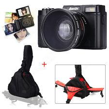 AMKOV DSLR Digital Camera 4x Zoom + Caden DSLR Camera Case Waterproof Messenger