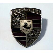 Porsche Hood Badge Crest Pewter Finish