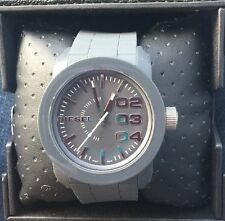 Diesel Double Down Grey Silicone Watch DZ1779 NWT