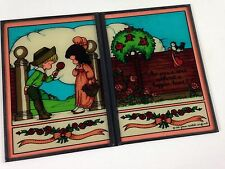 Joan Walsh Anglund Stained Glass VTG 1981 Who Sees A Rose Without Happier Heart