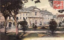 CAEN 122 LL hôtel de ville et square timbrée 1912