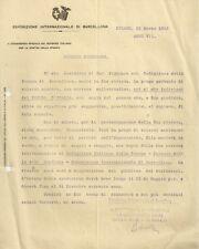 Esposizione Internazionale di Barcellona 1929 Lettera di Giulio Barella 1929