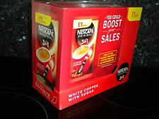 NESCAFE ORIGINAL 3 in 1 SACHETS x 60 COFFEE WHITE & SUGAR 12 x 5 packs FREE P&P