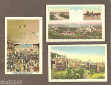 VINTAGE POSTCARDS MONTREAL, QUEBEC, CANADA LOT OF 3 CANADIAN RAILWAYS STATION