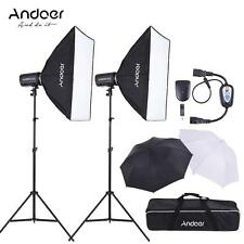 Photography Studio 600W Strobe Flash Speedlite Light Lighting Softbox Kit X1T3