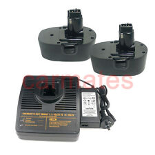 2 Battery For Black Decker FireStorm 18V 2.0Ah CD18CA PS145+compatible charger