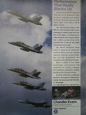 3/1991 PUB COLT CHANDLER EVANS MAIN FUEL PUMP F/A-18 AFTERBURNER PUMP AD