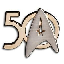STAR TREK TOS Official Licensed 50th ANNIVERSARY Badge Lapel PIN Roddenberry