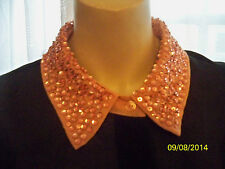 SOUTH  BLACK/PEACH OR PEACH/BLACK EMBELLISHED  COLLAR BLOUSE 18,10,22 CLEARANCE