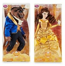 "DisneyStore ""Beauty and the Beast"" Classic Doll 12"" Set Belle + Beast"