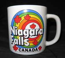 NEW Ceramic NIAGARA FALLS Coffee MUG Vintage Cup RAINBOW Canada Maple Leaf Drink