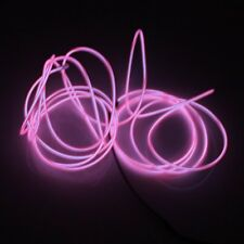 5M/16ft Rope Pink LED Strip Light EL Wire Cable for Party Decoration at Night