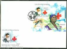 TOGO 2013 BATTLE AGAINST MALARIA HENRI DUNANT RED CROSS   SOUVENIR SHEET FDC