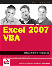 Excel 2007 VBA Programmer's Reference by Robert Rosenberg, Brian Patterson,...