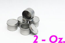 2 Oz Deep Round Metal Tin Container - candles,crafts,storage,survival (5 Pack)
