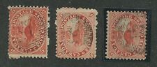 """CANADA #15 USED """"37"""" FANCY CANCELS 3 COPIES"""