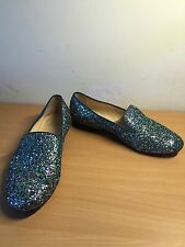 Christian Louboutin Glitter Flat Shoes, Size 39, Uk 5, Collectors Item!