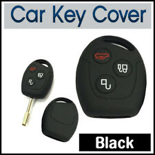 SILICONE KEY CASE COVER FORD MONDEO FIESTA FOCUS C-Max KA TRANSIT GALAXY-BLACK